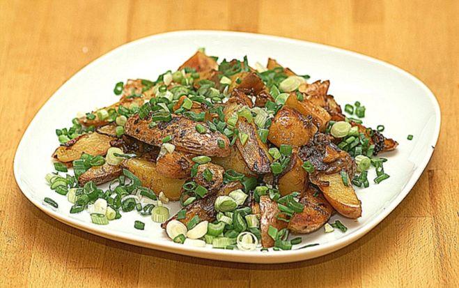 Картошка с грибами быстро