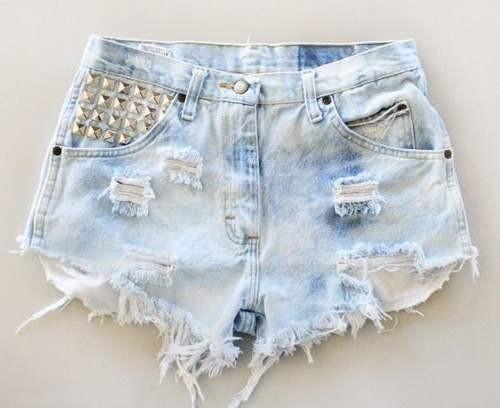 Как сделать дырки в джинсовых шортах в