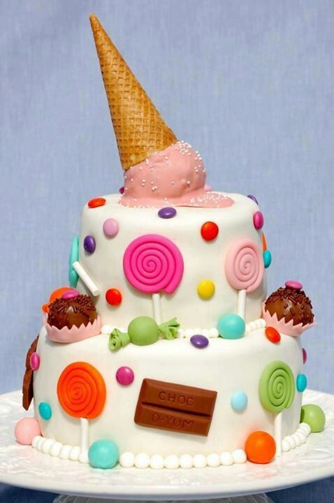 Торт с рожком от мороженого
