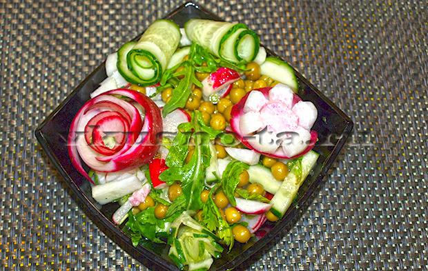 рецепты салатов из кукурузы горошка и фасоли