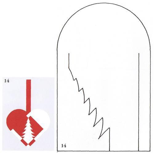 Сердце из бумаги шаблоны