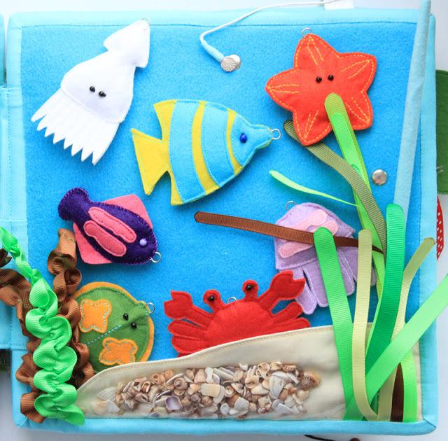 морские обитатели из фетра, поделки на морскую тему