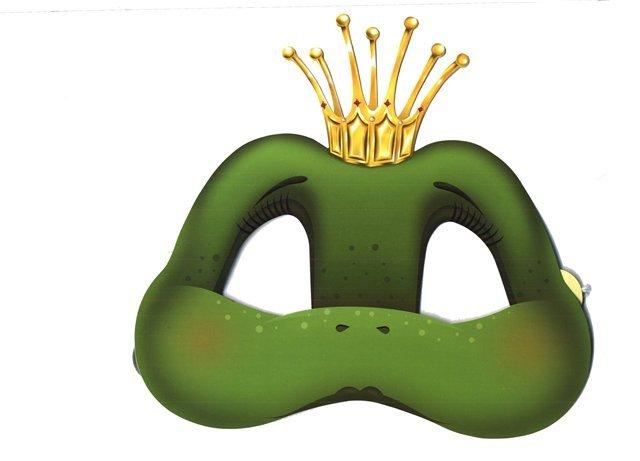 шаблон маски лягушки