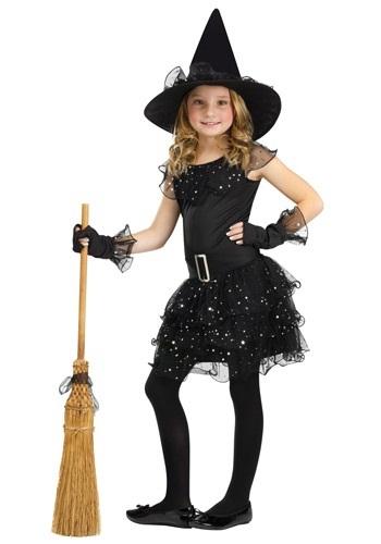Как изготовить новогодний костюм маленькой колдуньи