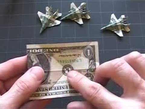 самолет из доллара