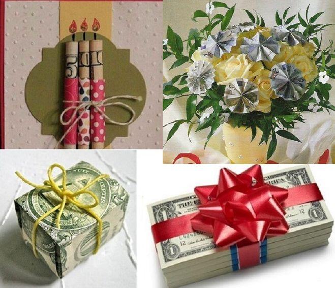 Оригинальные идеи подарков из денег 74