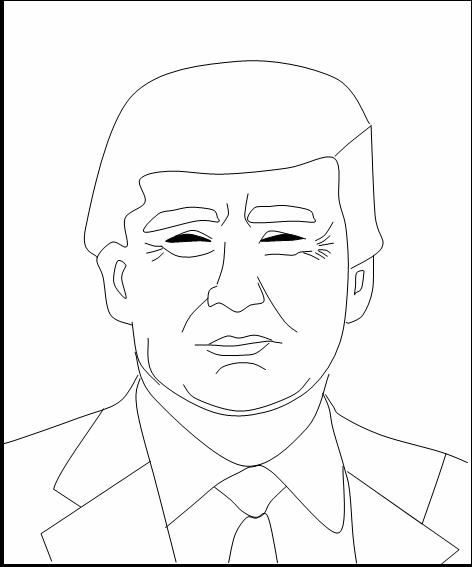 Как нарисовать Трампа