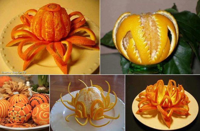 Цветы из апельсины своими руками