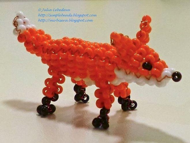 по плетению из бисера лисы