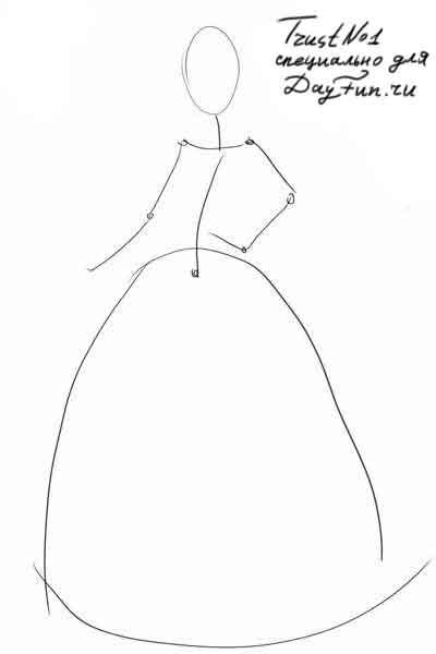 Как нарисовать своими руками поэтапно девочку