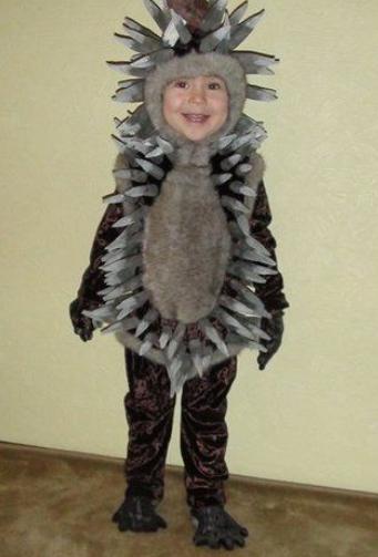 Новогодний костюм ежика для мальчика своими руками фото 755