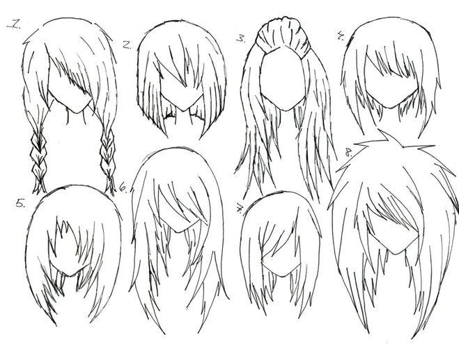 Как рисовать волосы женские