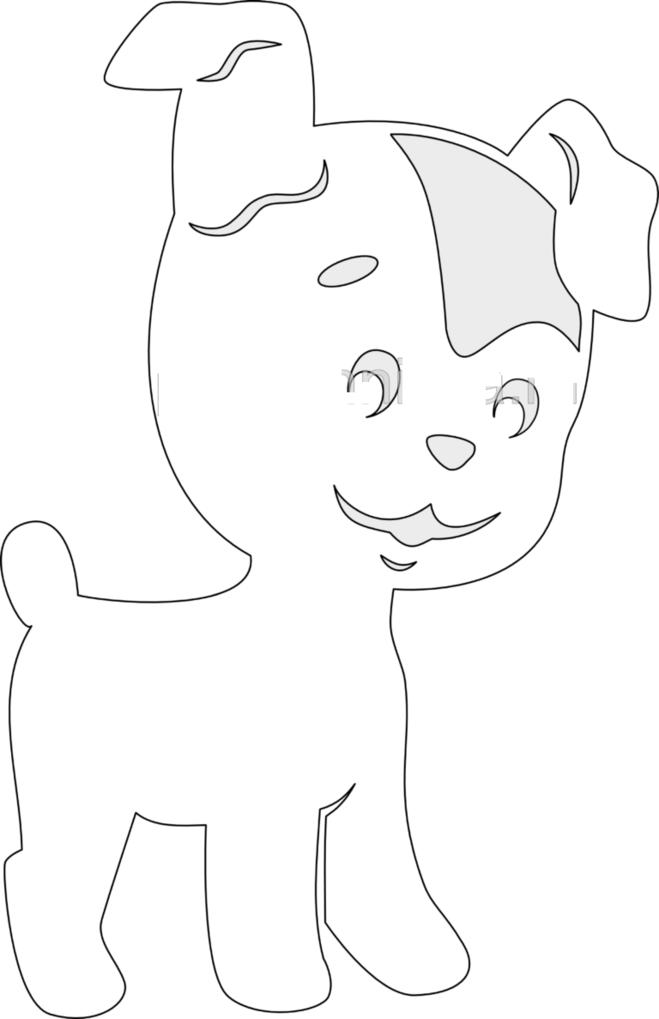 Как вырезать собаку из бумаги на новый год 2018? Окно Клипарт