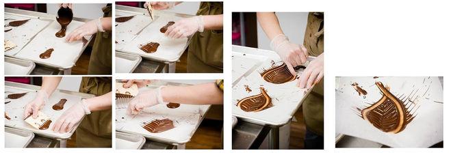 шоколадные листья мастер-класс
