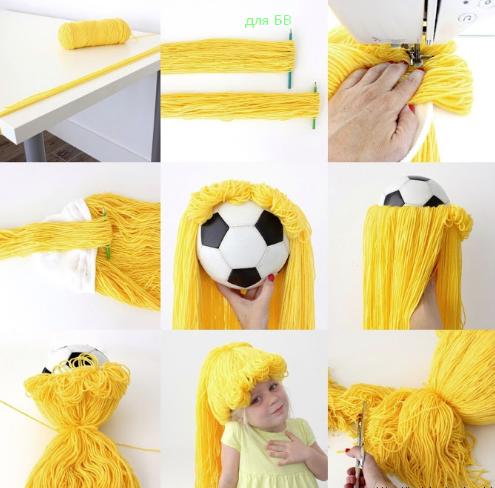 как сделать парик