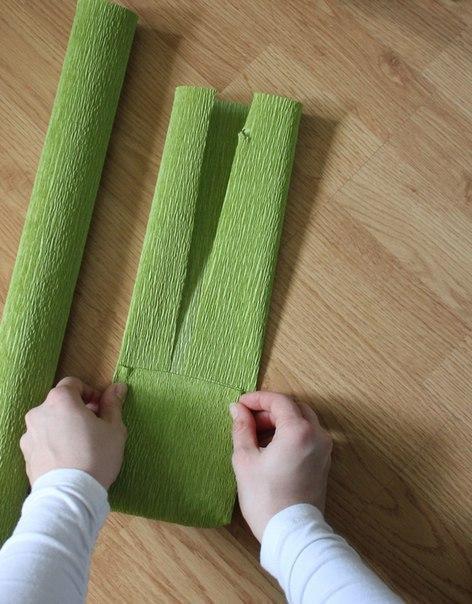 Как сделать объемный бант из гофрированной бумаги