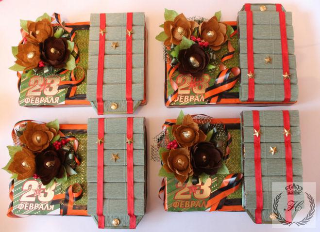 Подарок своими руками из коробки конфет