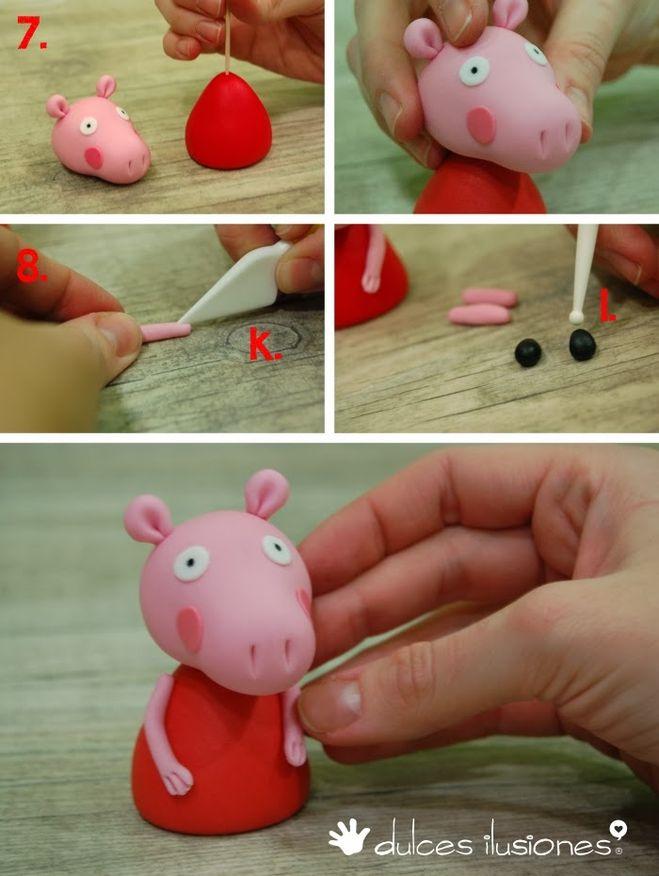 Как сделать свинку пеппа из пластилина