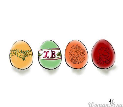 Поэтапно рисовать на яйцах