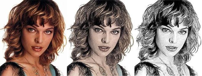 Сделать из фото рисунок карандашом в фотошопе онлайн