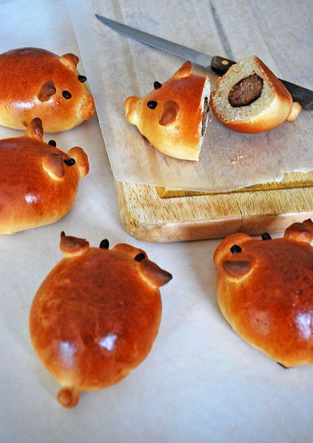 угощение с изображением свиньи на Новый год