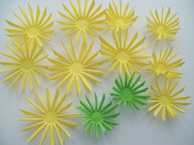 Цветы астра из бумаги