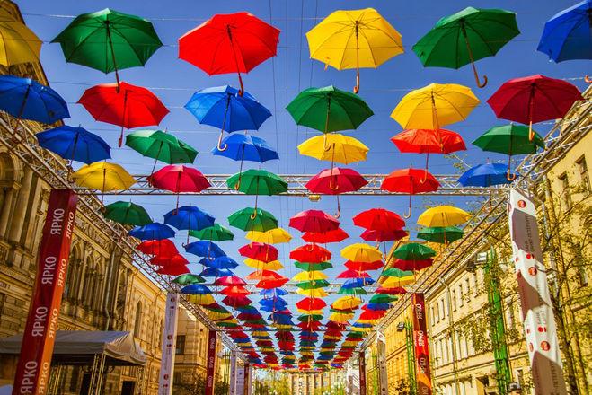 парящие зонтики