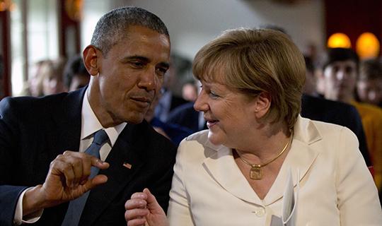 Барак Обама; Президент США; Меркель; Встреча; Супердержава