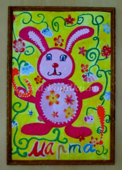 Как нарисовать открытку к 8 марта поэтапно мастер-класс для детей 5-7 лет