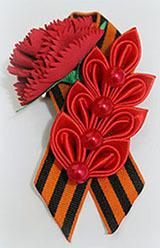 украшение из георгиевской ленточки на 9 мая топ