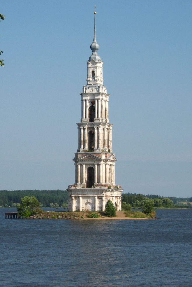 Река Волга, выше города Калязин