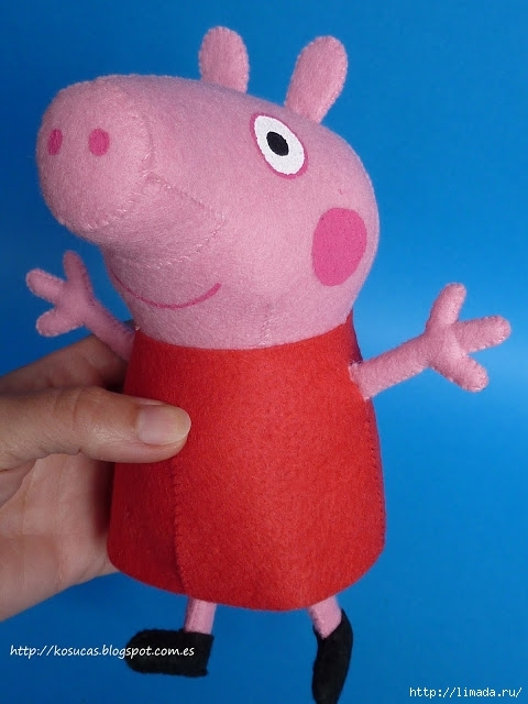 Сшить свинку Пеппа