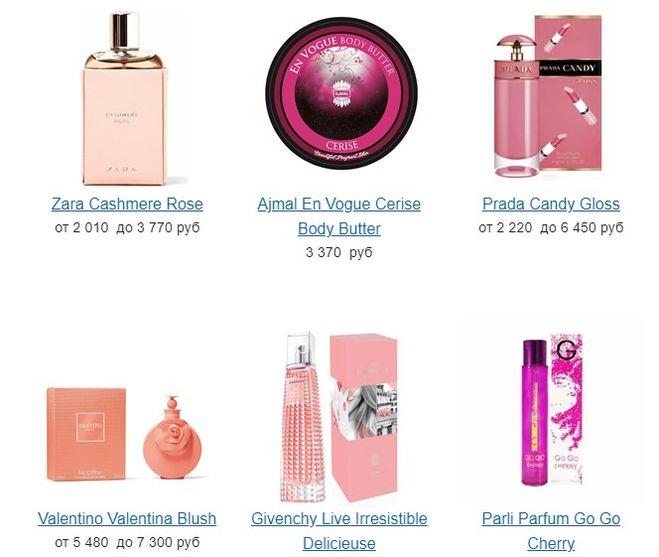 парфюм с ароматом вишни духи с нотами вишни какие где купить