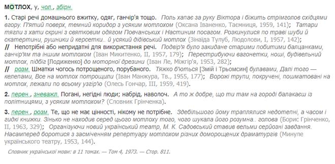 мотлох словарь