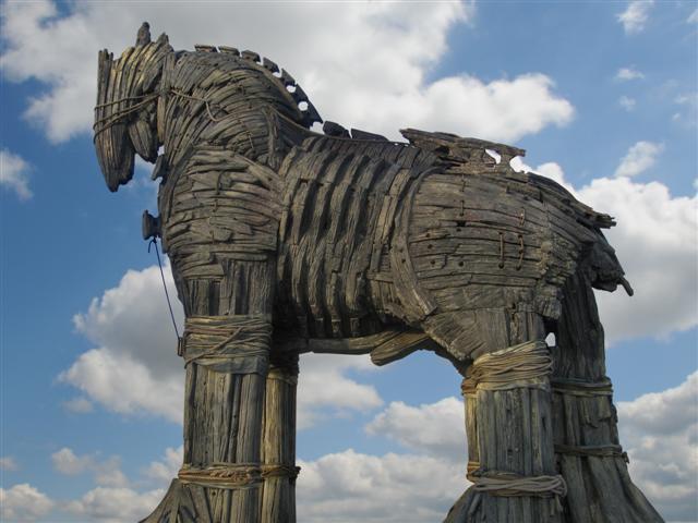 Древнегреческая фраза бойтесь данайцев дары приносящих