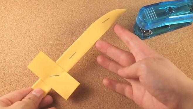 Как сделать из бумаги легкие нож 343