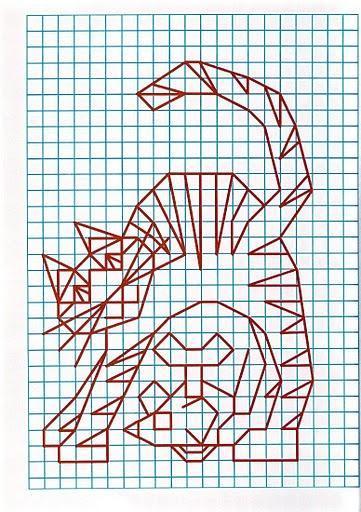 рисунок по клеткам кошка1