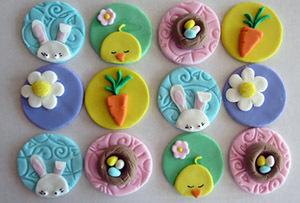 фигурки из мастики для украшения кексов на Пасху