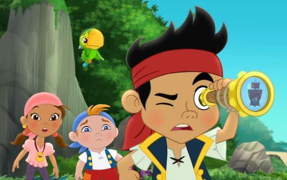 Как зовут всех персонажей, героев мультфильма Джейк и пираты Нетландии ?