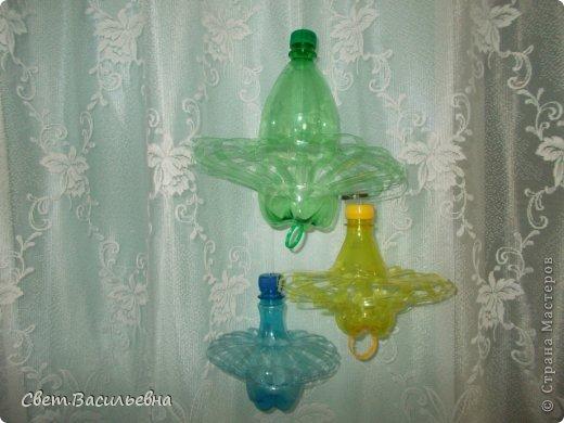 Игрушка на уличную елку  из пластиковой бутылки