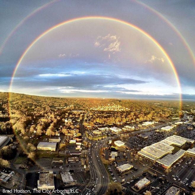 круглая радуга