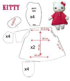 выкройка Hello Kitty