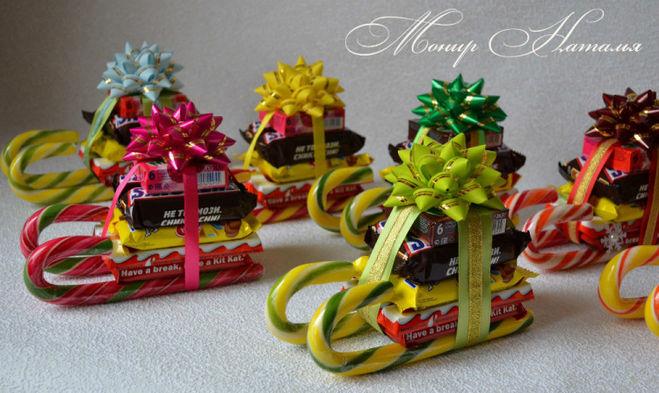 Мини подарки к новому году своими руками