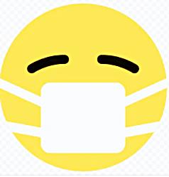 смайлик в маске от коронавируса