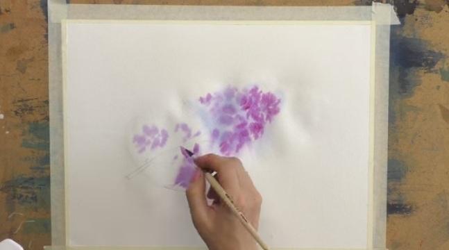 Как сделать сиреневую краску