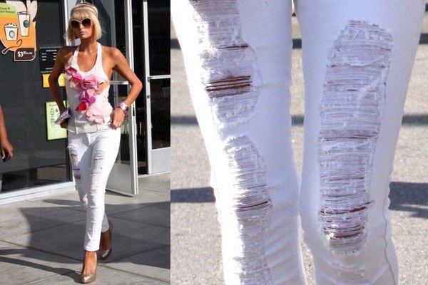 Как разорвать джинсы в домашних условиях фото