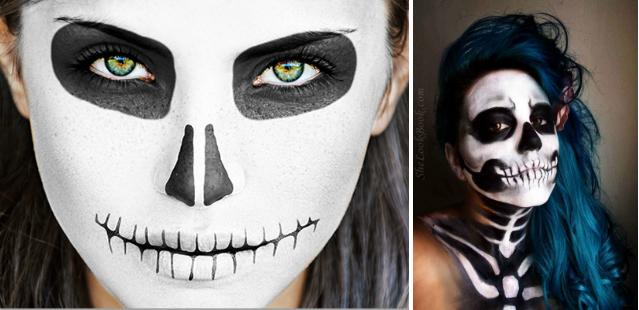 Маски для лица хэллоуина