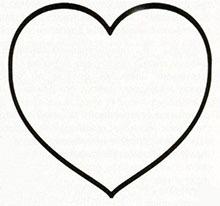 шаблон с сердцем