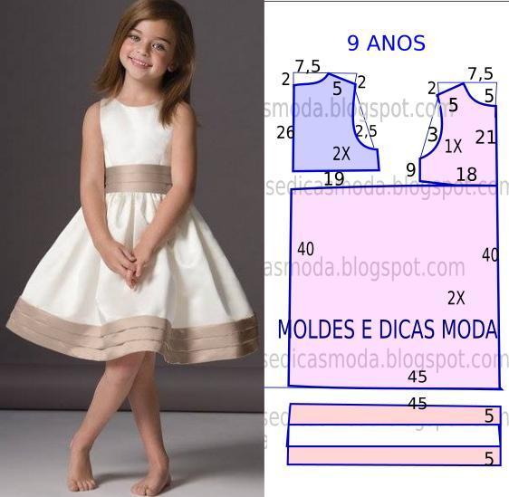 Как сшить платье для девочки 10 733