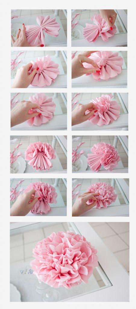 Цветы из гофрированной бумаги своими руками пионы фото 842